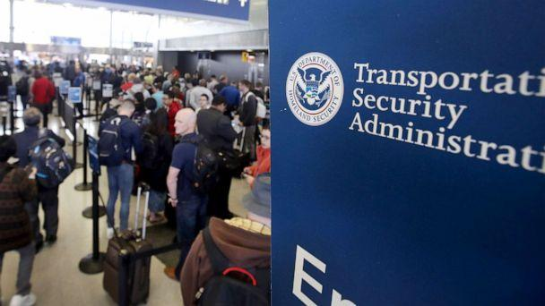 PHOTO: Passengers at O'Hare International Airport wait in line to be screened at a Transportation Security Administration (TSA) checkpoint. (Scott Olson/Getty Images, FILE)