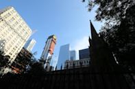 <p>Before 9/11, the original World Trade Center towers could be seen from the Trinity Church Cemetery in Lower Manhattan, Sept. 6, 2018. (Photo: Gordon Donovan/Yahoo News) </p>