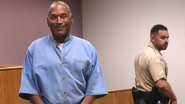 PHOTO: Former NFL football star O.J. Simpson enters for his parole hearing at the Lovelock Correctional Center in Lovelock, Nev., on July 20, 2017. (Jason Bean/The Reno Gazette-Journal via AP)