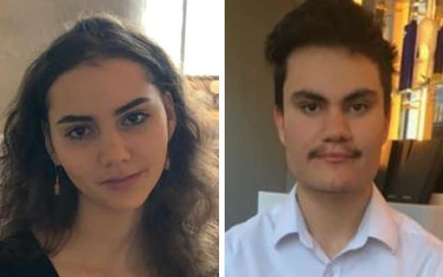 Daniel Linsey, 19 and his younger sister Amelie, 15