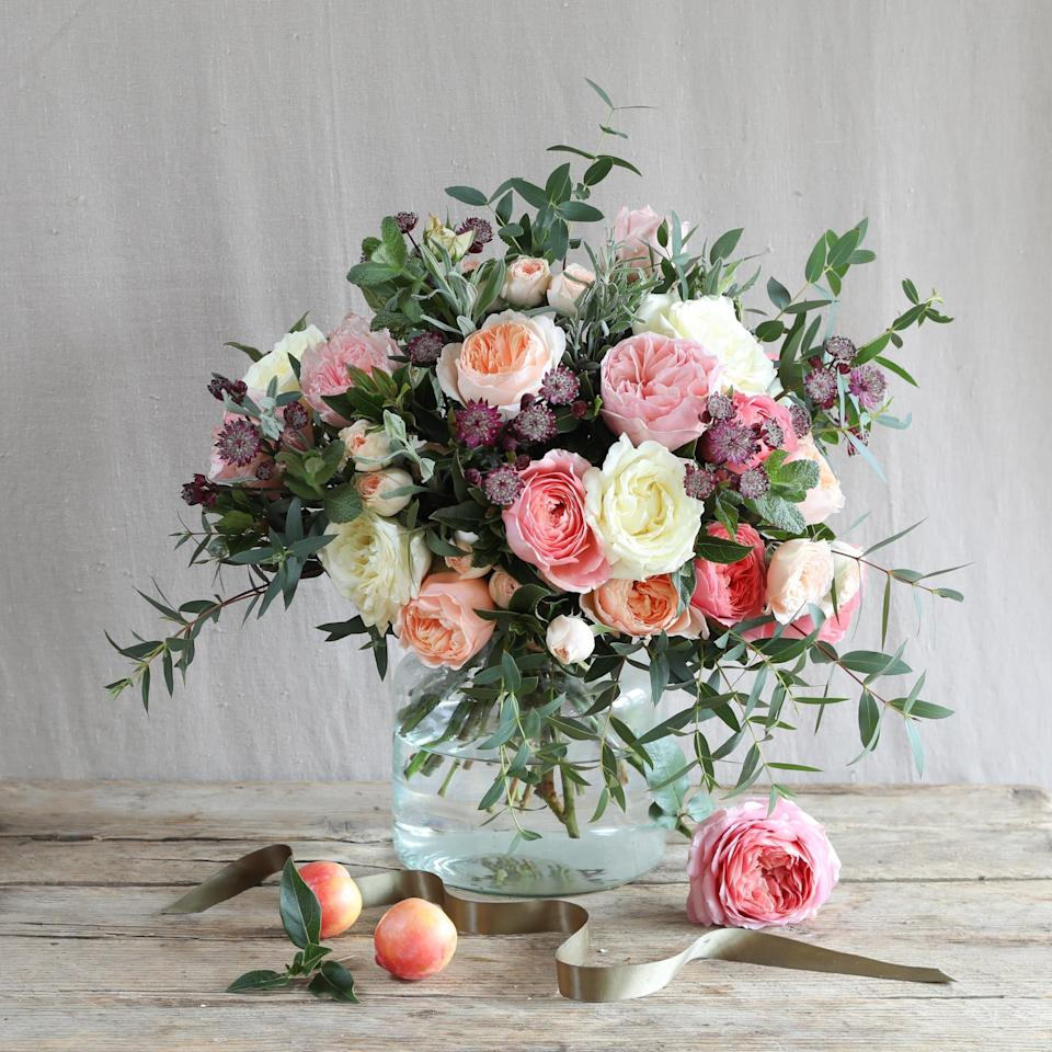Romantic Juliet Bouquet (£48, The Real Flower Company)