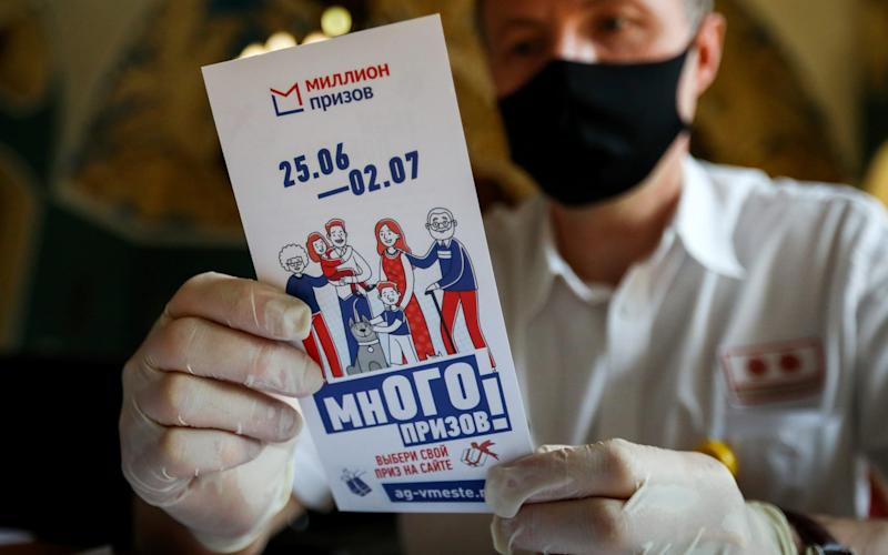"""Voters in Moscow were entered a raffle for """"Million of Prizes"""" - Stanislav Krasilnikov/Tass via Getty Images"""