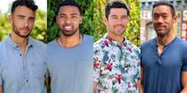 "<p><strong>Spoilers for this season of <em>The Bachelorette</em> ahead.</strong> In case you missed it, <a href=""https://www.marieclaire.com/culture/a33900544/the-bachelorette-spoilers-2020-tayshia-adams-clare-crawley/"" rel=""nofollow noopener"" target=""_blank"" data-ylk=""slk:Tayshia Adams is our second Bachelorette"" class=""link rapid-noclick-resp"">Tayshia Adams is our second <em>Bachelorette</em></a> of the 2020 season. After Clare Crawley quit the show to be with one of her contestants, Adams was selected by producers to finish out the season. Immediately, rumors swirled about whether she'd get a totally new cast or whether she would ""take over"" from Crawley, and there's still a lot that hasn't been confirmed. But! We have 20 men whom we believe are part of Adams' cast, thanks to <a href=""https://realitysteve.com/2020/09/30/some-bachelorette-spoilers/3/"" rel=""nofollow noopener"" target=""_blank"" data-ylk=""slk:Reality Steve"" class=""link rapid-noclick-resp"">Reality Steve</a> and Instagram account <a href=""https://www.instagram.com/p/CESgTtTDQVT/"" rel=""nofollow noopener"" target=""_blank"" data-ylk=""slk:bachdetective"" class=""link rapid-noclick-resp"">bachdetective</a>. This list is made up of some of <a href=""https://www.marieclaire.com/culture/g31399492/clare-crawley-the-bachelorette-contestants/"" rel=""nofollow noopener"" target=""_blank"" data-ylk=""slk:Crawley's cast of 31 men"" class=""link rapid-noclick-resp"">Crawley's cast of 31 men</a>, as well as some of her alternates who weren't initially brought onto her season (but were held in reserve in case someone tested positive for COVID-19 or there were other issues with production). According to <a href=""https://realitysteve.com/2020/09/30/some-bachelorette-spoilers/"" rel=""nofollow noopener"" target=""_blank"" data-ylk=""slk:Reality Steve"" class=""link rapid-noclick-resp"">Reality Steve</a>, no contestant that Crawley eliminated came back as part of Tayshia's season. And Crawley had made two sets of eliminations before she quit the show—which means that Adams is working with a smaller number of contestants than normal, and some of these are Crawley's remaining men.</p><p>Below, we have the contestants we know about, and which ones to look out for in particular. ABC's released <a href=""https://abc.com/shows/the-bachelorette/cast"" rel=""nofollow noopener"" target=""_blank"" data-ylk=""slk:Crawley's cast's full bios"" class=""link rapid-noclick-resp"">Crawley's cast's full bios</a>, if you're looking for even more information. We'll keep this post updated if we learn anyone else who'll be vying for Adams' heart. </p>"