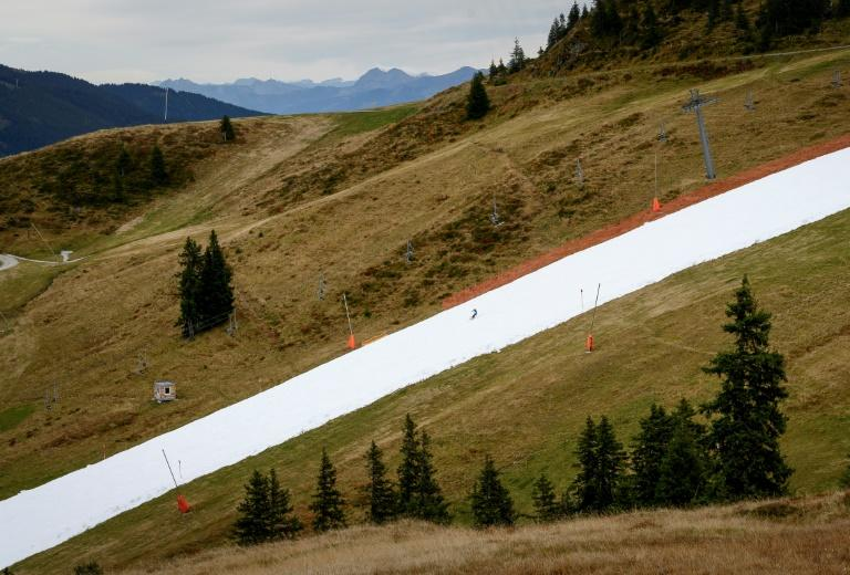 The track is the first in Kitzbuhel to open in October for the fifth consecutive year