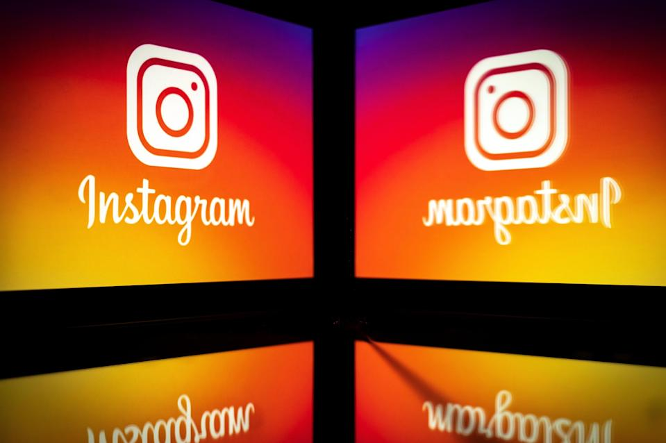Picture taken on September 28, 2020 shows the logo of the social network Instagram on a smartphone, in Toulouse, southwestern France (AFP via Getty Images)