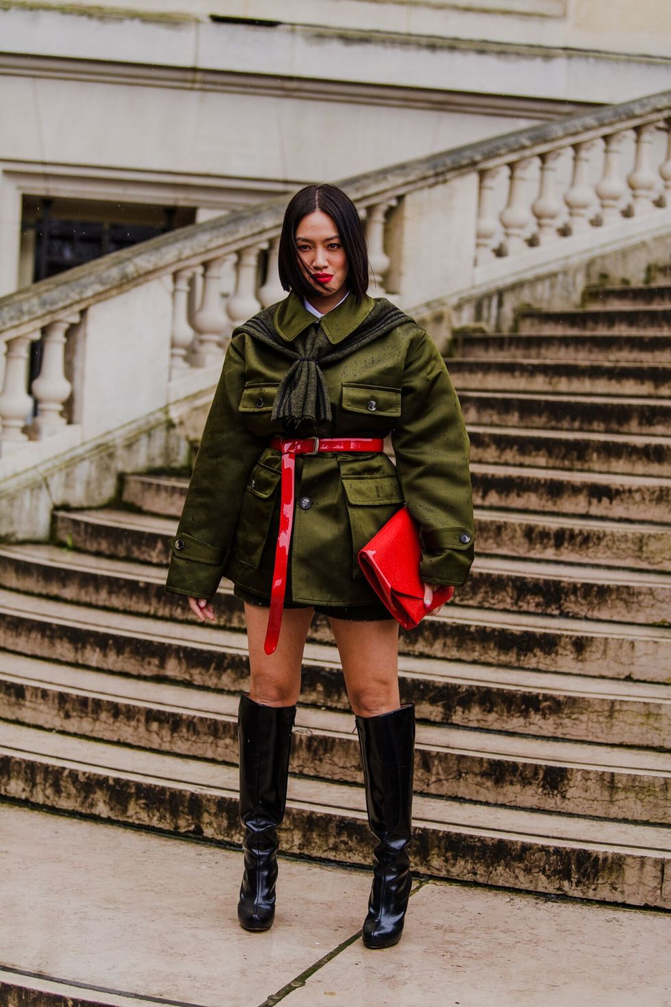 <p>With large pockets and oversized silhouettes, these military-inspired jackets are going to be everywhere this fall. Accessorize with pops of color and knee-high boots.</p>