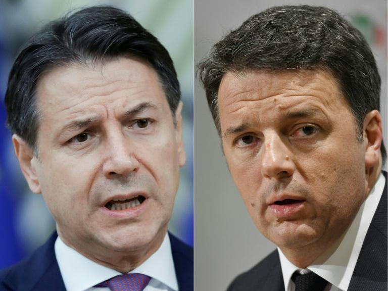 Former Italian premier Matteo Renzi (right) may take his Democratic Party (PD) out of Prime Minister Giuseppe Conte's ruling coalition