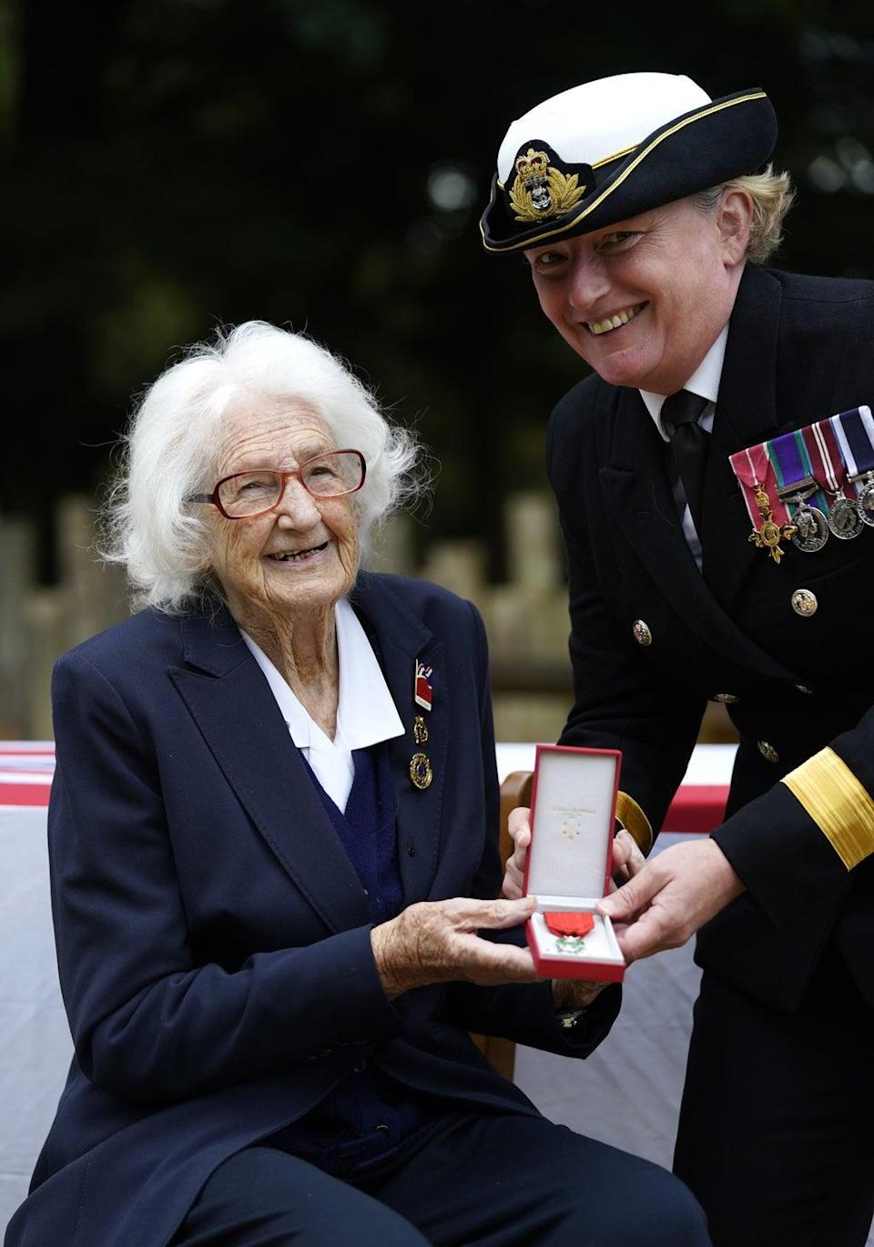 Mrs Cockayne served in the Women's Royal Naval Service (Andrew Matthews/PA) (PA Wire)