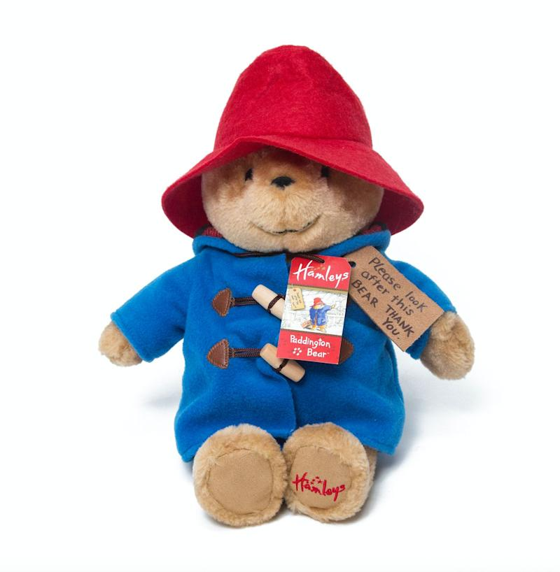 """Who doesn't want a cuddly, plush Paddington Bear teddy?! He's 28cm tall, has his signature blue duffel coat and of course, his swing tag. What a cutie.<br />Price: &pound;30<br />Ages: 0+<br /><a href=""""http://www.hamleys.com/hamleys-exclusive-cuddly-paddington-bear-soft-toy.ir"""" target=""""_blank"""" rel=""""noopener noreferrer"""">Click here to buy</a>.&nbsp;"""