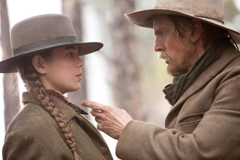 """MOVES TUES., JULY 3, 2012 CHRISTY LEMIRE - FILE - In this film publicity image released by Paramount Pictures, Hailee Steinfeld, left, and Barry Pepper are shown in a scene from, """"True Grit."""" (AP Photo/Paramount Pictures, Lorey Sebastian)"""