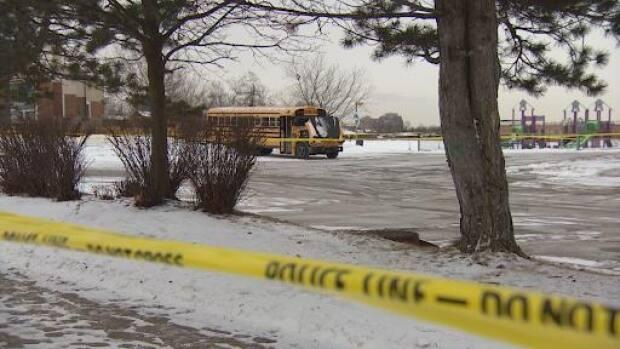 Peel Regional Police are investigating after a person was found dead in a school bus parked at a Brampton school early Saturday.