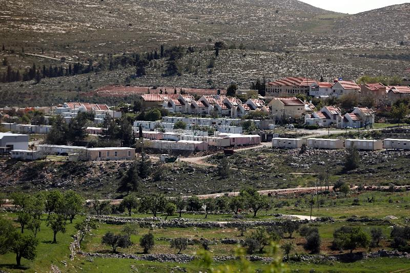 The Jewish settlement of Shvut Rachel, near the Palestinian village of Khirbet Sarra is seen in the West Bank between Ramallah and Nablus