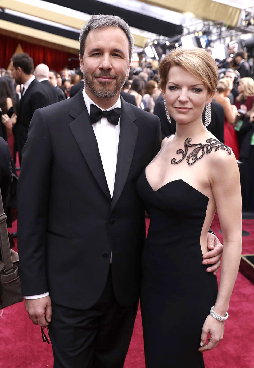 <p>Denis Villeneuve and Tanya Lapointe arrive at the Oscars on Sunday, Feb. 26, 2017, at the Dolby Theatre in Los Angeles. (Photo by Matt Sayles/Invision/AP) </p>