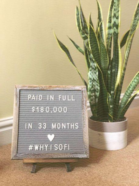 Cari Swanger's Paid-in-Full photo, which she shared with the SoFi community after paying down her debt. (Courtesy Cari Swanger)