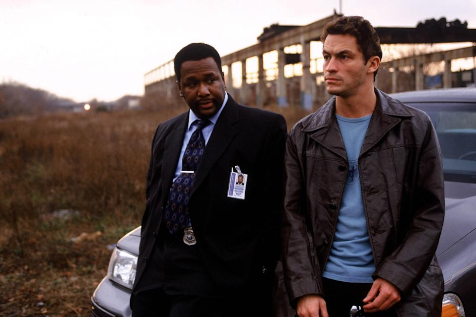 Dominic West and Wendell Pierce as Jimmy McNulty and Bunk Moreland in HBO's The Wire. (HBO)