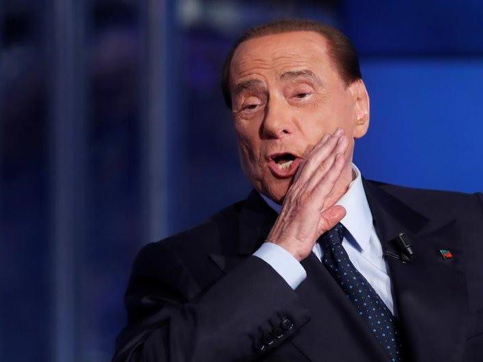 File photo: Italy's former Prime Minister Silvio Berlusconi gestures during the television talk show
