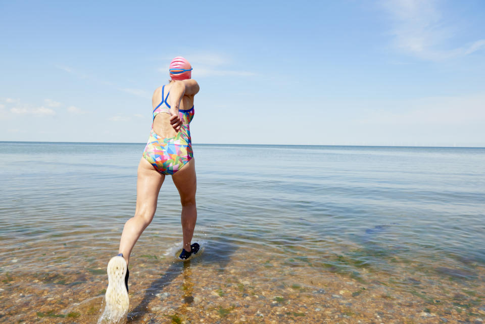 Experts recommend swimming on a lifeguarded beach. (Getty Images)