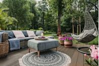 """<p>As the weather gets warmer, you're probably itching to get off your couch and spend as much time as possible <a href=""""https://www.elledecor.com/design-decorate/trends/g9142414/small-patio-ideas/"""" rel=""""nofollow noopener"""" target=""""_blank"""" data-ylk=""""slk:outdoors"""" class=""""link rapid-noclick-resp"""">outdoors</a>. While it's nice to get away from your home for a while, it's sometimes even nicer to have an oasis in your own backyard to turn to. You definitely <a href=""""https://www.elledecor.com/design-decorate/room-ideas/g2512/ways-to-make-the-most-of-small-outdoor-spaces/"""" rel=""""nofollow noopener"""" target=""""_blank"""" data-ylk=""""slk:don't need"""" class=""""link rapid-noclick-resp"""">don't need</a> to have a large outdoor space in order to <a href=""""https://www.elledecor.com/design-decorate/trends/a35744335/outdoor-room-trends-2021/"""" rel=""""nofollow noopener"""" target=""""_blank"""" data-ylk=""""slk:transform it"""" class=""""link rapid-noclick-resp"""">transform it</a> into something cozy, comfortable and enjoyable — you just need to have the right decor and setup. Shopping for these <a href=""""https://www.elledecor.com/shopping/g26660043/amazon-best-selling-home-products/"""" rel=""""nofollow noopener"""" target=""""_blank"""" data-ylk=""""slk:items on Amazon"""" class=""""link rapid-noclick-resp"""">items on Amazon</a> makes it easy to get stylish, functional pieces quickly and at an affordable price point. </p><p>A great outdoor space requires some comfortable seating, versatile lighting, shade for extra sunny days and some greenery (real or fake). Add in some decor that you like, such as funky planters, a colorful rug or some whimsical string lights, and you've got a space you'll want to return to each day (or night). Here are some of our favorite products you can buy from Amazon to make this a reality. </p>"""