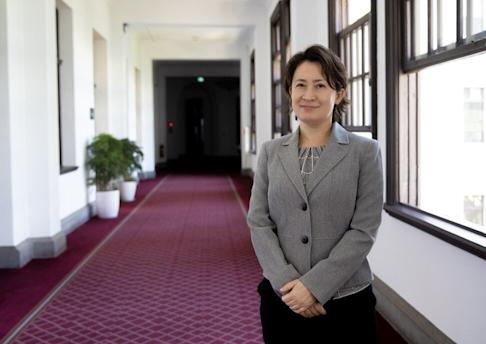 Hsiao Bi-khim Hsiao started her connection with Taiwanese politics in 1991 when she was an assistant to feminist Annette Lu of the Democratic Progressive Party. Photo: CNA