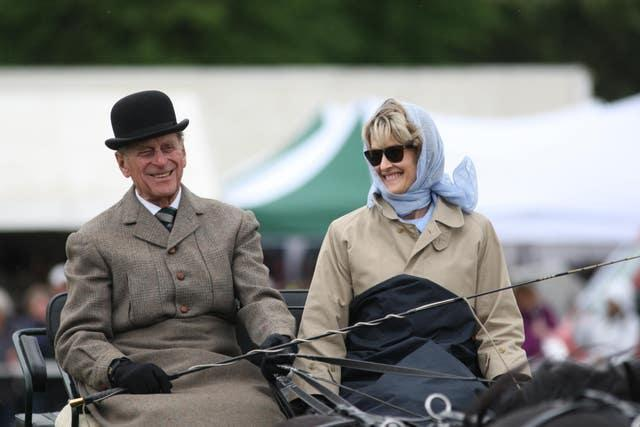 The Duke of Edinburgh with the former Penny Romsey at the Royal Windsor Horse Show