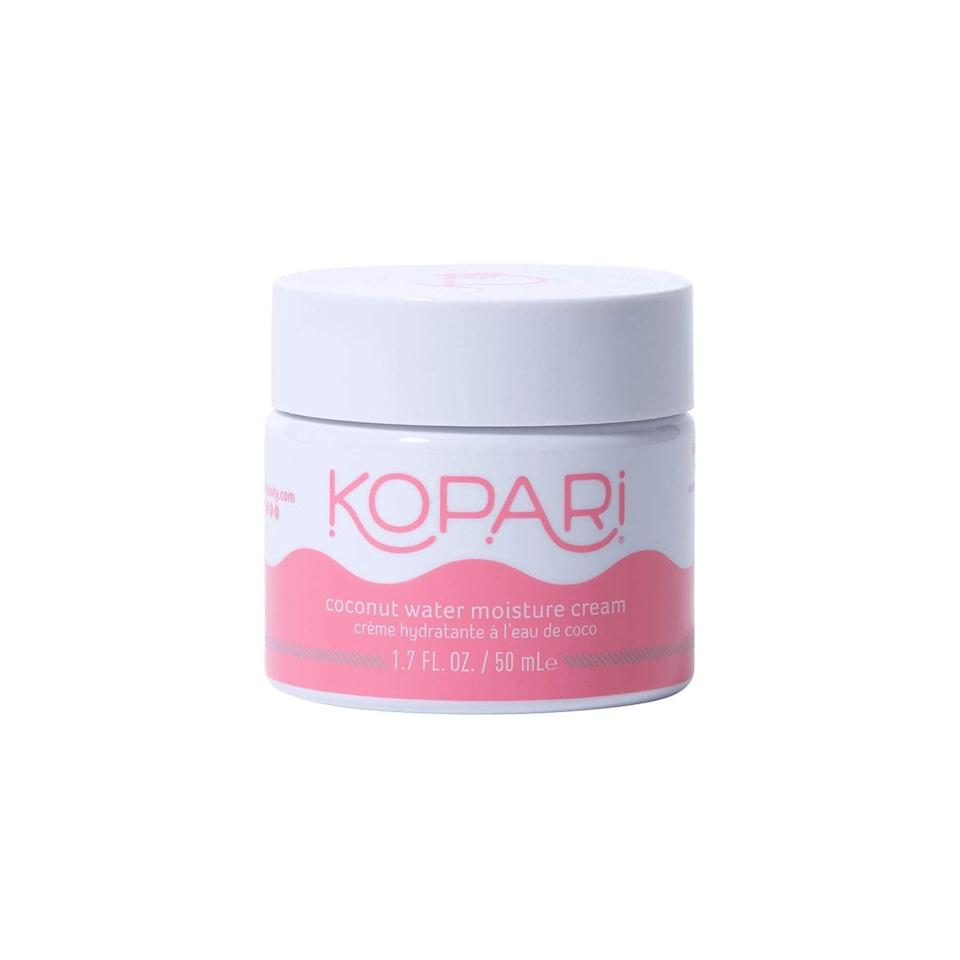 """<h2>Kopari </h2><br>20% off select products<br><br><strong>Kopari</strong> Coconut Water Moisture Cream, $, available at <a href=""""https://amzn.to/3gPoLxI"""" rel=""""nofollow noopener"""" target=""""_blank"""" data-ylk=""""slk:Amazon"""" class=""""link rapid-noclick-resp"""">Amazon</a>"""