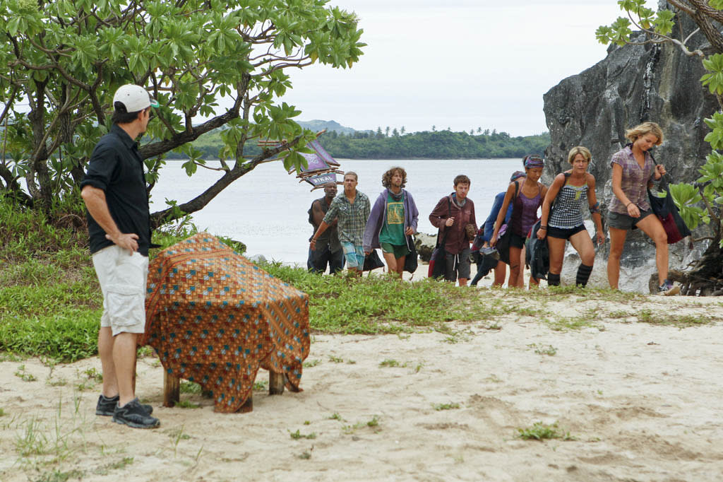 """""""Operation Thunder Dome"""" - Jeff Probst welcomes the Bikal Tribe during the sixth episode of """"Survivor: Caramoan - Fans vs. Favorites."""""""