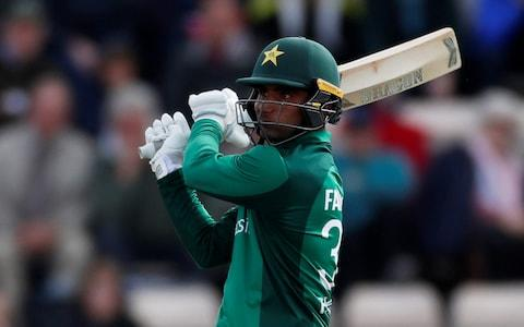 Fakhar Zaman makes a brilliant hundred in Pakistan's thrilling chase - Credit: Action Images via Reuters/Paul Childs