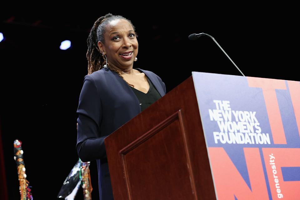 """""""This is far more serious than a lot of people think,"""" said Kimberlé Crenshaw, a law professor at UCLA and Columbia Law School, shown here speaking at a women's forum in 2018. (Photo: Monica Schipper via Getty Images)"""