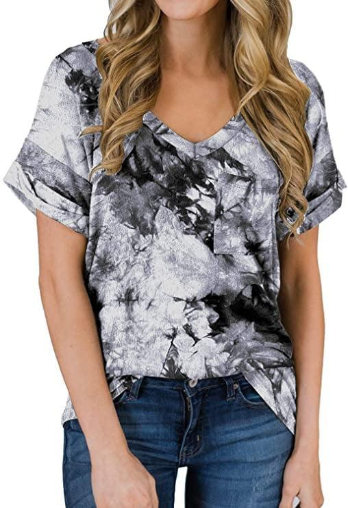 <p>The <span>Miholl Women's Short Sleeve V-Neck Shirt</span> ($10-$19) comes in 45 different colors and patterns.</p>