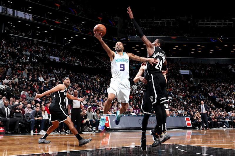 ee1189303 Tony Parker dropped 17 points in the fourth quarter on Friday night to lead  the Hornets past the Nets. (Nathaniel S. Butler Getty Images)
