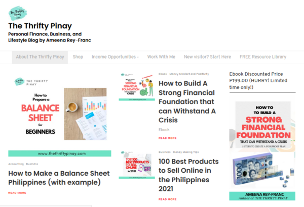 the thrifty pinay website