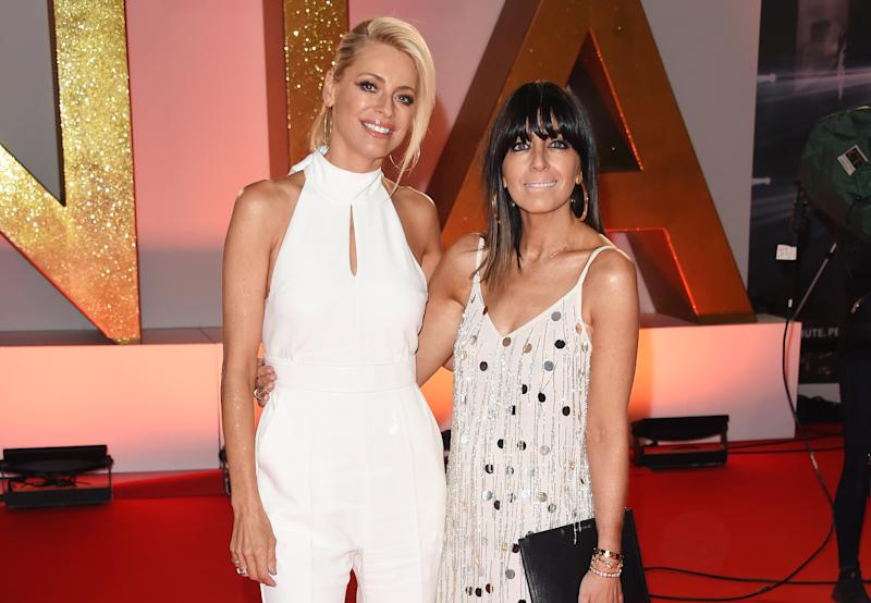 LONDON, ENGLAND - JANUARY 22: Tess Daly (L) and Claudia Winkleman attend the National Television Awards held at The O2 Arena on January 22, 2019 in London, England. (Photo by David M. Benett/Dave Benett/Getty Images)