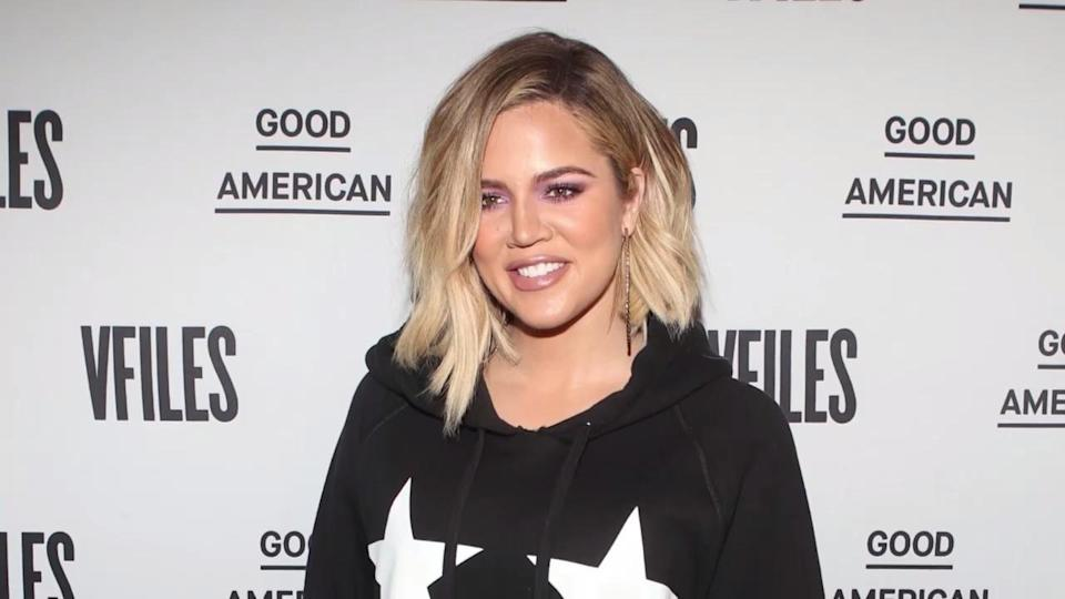 Khloé Kardashian celebrated the launch of Good American and VFILES's pop-up shop in SoHo on Thursday evening. (Photo: Getty Images)