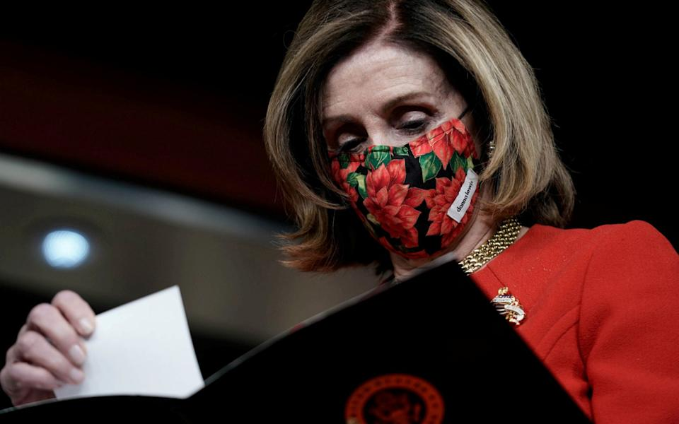 Speaker Nancy Pelosi said she supported the bill despite the fact it did not include the direct aid for state and local governments - KEN CEDENO / REUTERS