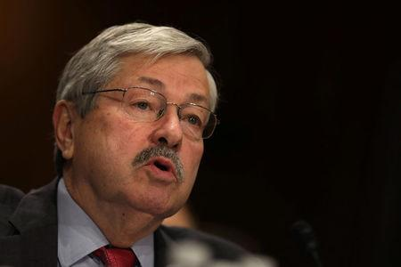 Iowa Governor Terry Branstad testifies before a Senate Foreign Relations Committee confirmation hearing on his nomination to be U.S. ambassador to China at Capitol Hill in Washington D.C.