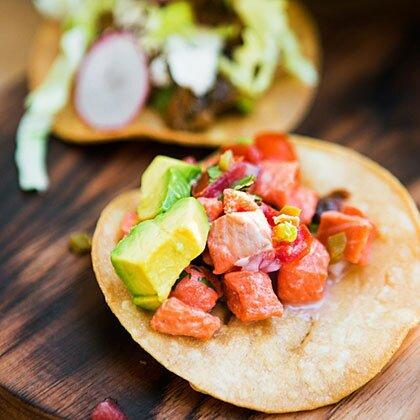 """<p>Amelia loves using fresh seafood from the nearby coast. </p><p><a href=""""https://www.myrecipes.com/recipe/salmon-ceviche"""" rel=""""nofollow noopener"""" target=""""_blank"""" data-ylk=""""slk:Salmon Ceviche Recipe"""" class=""""link rapid-noclick-resp"""">Salmon Ceviche Recipe</a></p>"""