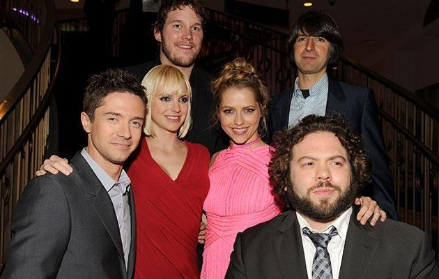 Anna with the cast of Take Me Home Tonight. Source: Getty