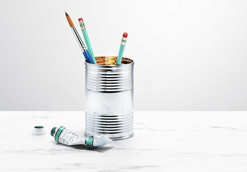 The £945 tin is perfect for putting pens in pencils in, we suppose, but you could get a cheaper version that'd save you £944