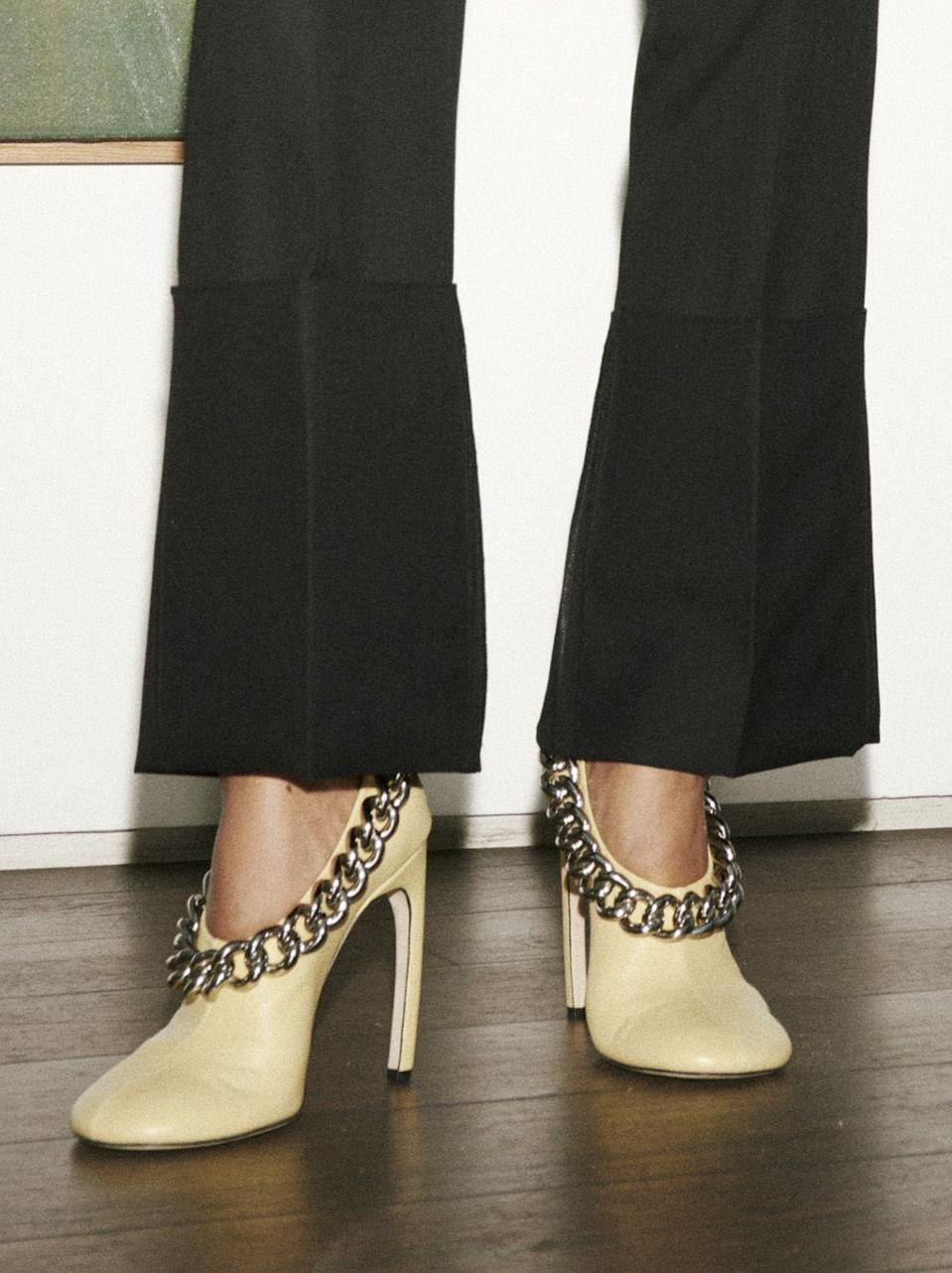 <p>Chain detailing will add all the shine you need to up your shoe game this year. </p><p><em>Victoria Beckham</em></p>