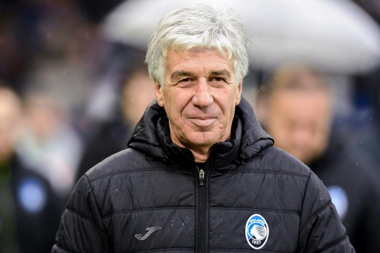 Coach Gian Piero Gasperini took over in 2016 and transformed the team. (AFP Photo/Miguel MEDINA)