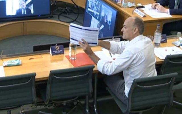 Dominic Cummings quizzed by MPs