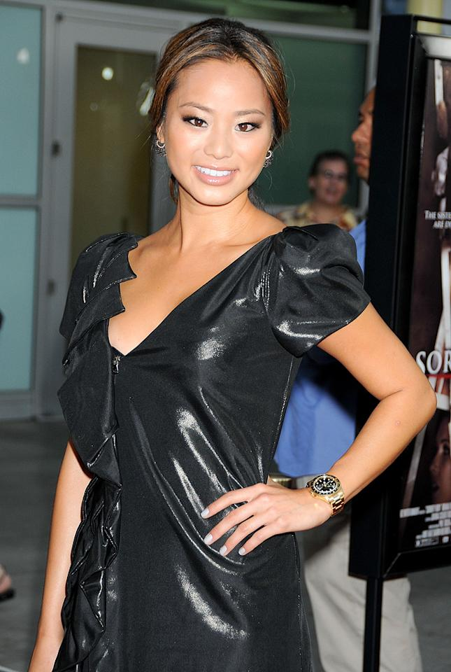 """<a href=""""http://movies.yahoo.com/movie/contributor/1809766996"""">Jamie Chung</a> at the Los Angeles premiere of <a href=""""http://movies.yahoo.com/movie/1810046336/info"""">Sorority Row</a> - 09/03/2009"""