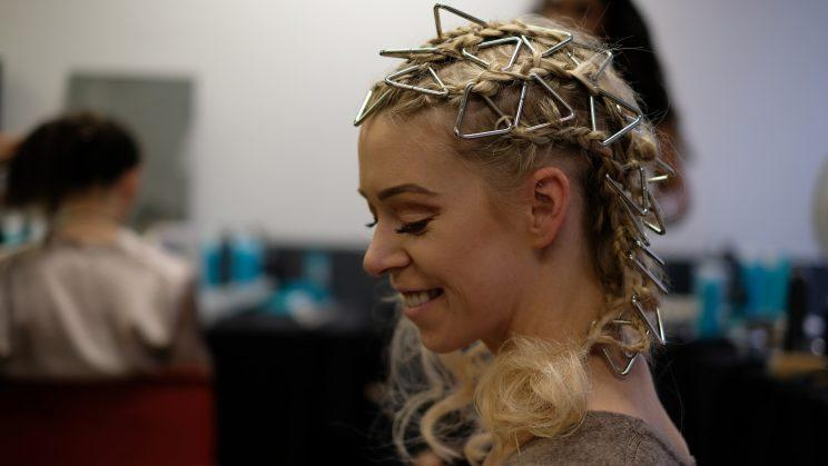 Bomb survivor Adrianne gets her glam on for the show