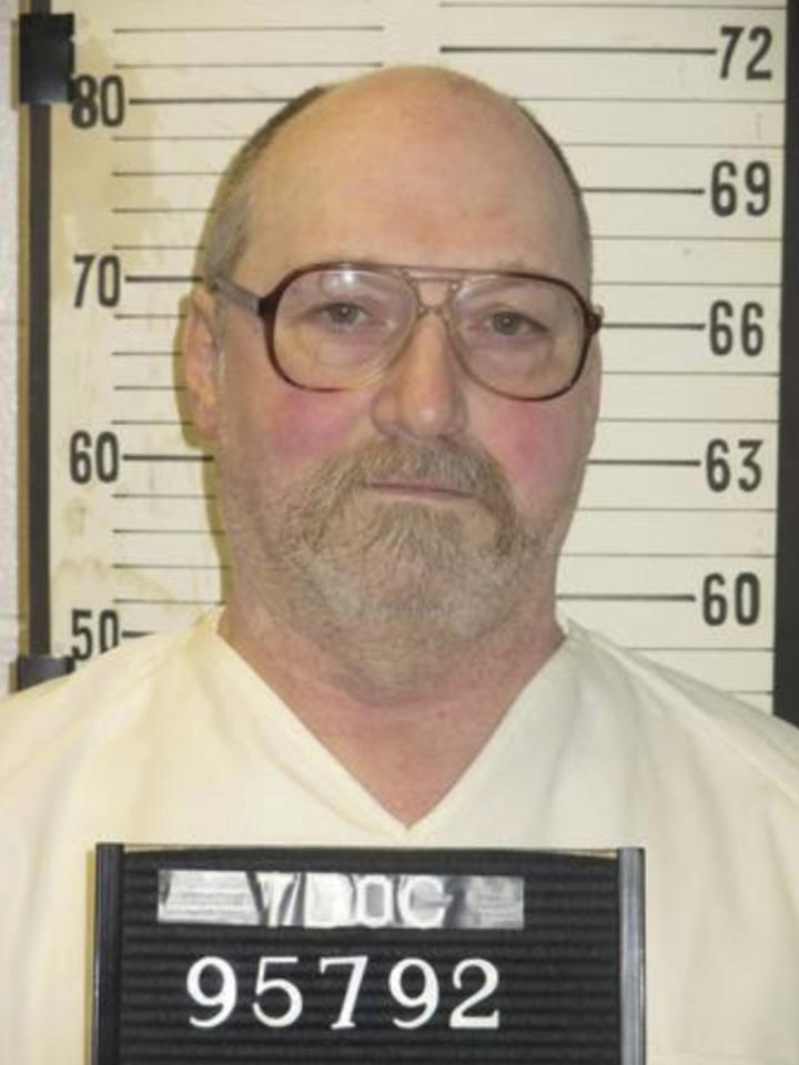 This undated photo provided by the Tennessee Department of Correction shows inmate David Earl Miller in Nashville, Tenn. Tennessee is planning to execute seven people over the next two years, after executing only eight since 1960. On Friday, Nov. 16, 2018, the Tennessee Supreme Court set execution dates for six death row inmates in 2019 and 2020. A seventh inmate, David Earl Miller, was already scheduled to die on Dec. 6. (Tennessee Department of Correction via AP)