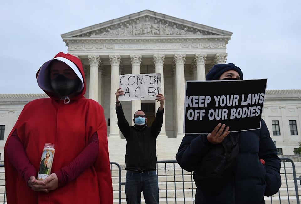 In the United States, 12 states have trigger laws that would almost immediately ban abortions if Roe v Wade was overturned (AFP via Getty Images)