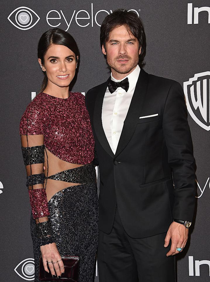 <p>BEVERLY HILLS, CA – JANUARY 08: Actors Nikki Reed and Ian Somerhalder arrive at the 18th Annual Post-Golden Globes Party hosted by Warner Bros. Pictures and InStyle at The Beverly Hilton Hotel on January 8, 2017 in Beverly Hills, California. (Photo by Axelle/Bauer-Griffin/FilmMagic) </p>
