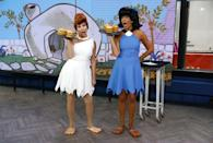 <p>Yaabaa-dabba-doo! For 2013's classic TV show theme, Hoda and Kathie Lee channeled the modern Stone Age family as BFFs Wilma and Betty. Just check out those <em>Flintstone</em> feet – talk about nailing it!</p>