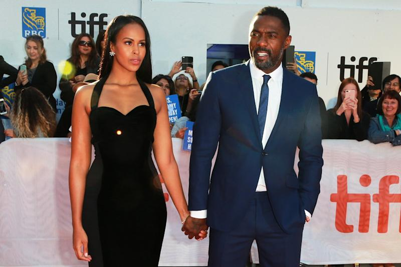 Proud fiance: Sabrina Dhowre has rubbished reports she doesn't want Idris Elba as James Bond: Rich Fury/Getty Images