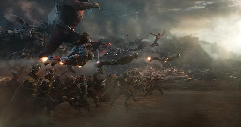 The Avengers gather together for a run in Endgame (Image by Marvel)