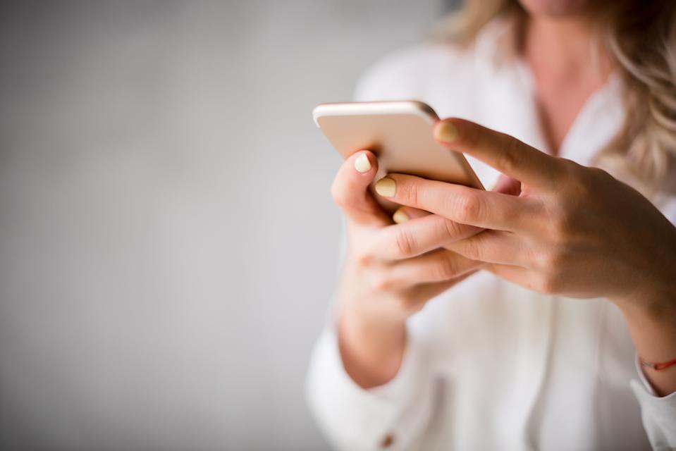 A woman was shocked to receive a loving text from an ex. (Photo: Getty Images)
